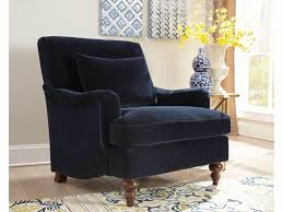Accent Chair With Arms Blue Accent Chair With Saddle Arms And Turned Legs