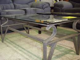 metal frame table and chairs furniture glass and metal coffee tables coffee table with grey sofa