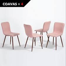 Esszimmer Bei Amazon 4er Stuhl Set Esszimmerstühle Coavas Stoff Kissen Küche Stühle Mit