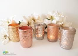 Metallic Home Decor by Metallic Painted Mason Jars Candle Holders Vase Rose