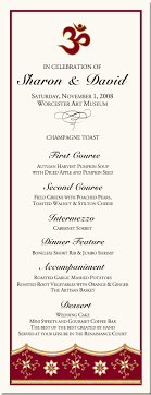 ceremony cards for weddings paisley buddhist hindu wedding menu cards indian menu card designs