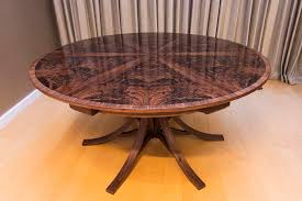 expanding circular dining table walnut curl expanding circular dining table johnson furniture