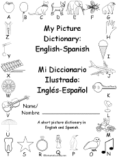 printable english spanish picture dictionary enchantedlearning com