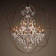 Chandeliers Led Modern Vintage Orb Chandelier Lighting Rustic Candle