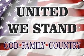 Country American Flag United We Stand American Flag God Family Country Aluminum Sign