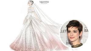 valentino wedding dresses hathaway s valentino wedding dress sketch cbs news