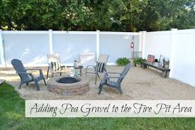Corner Fire Pit by Homeroad Adding Pea Gravel To The Fire Pit Area