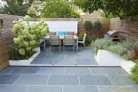 contemporary small family garden designers in clapham sw4 slate