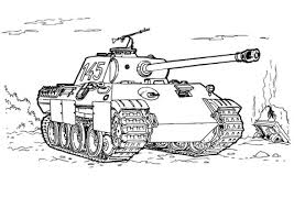 panther tank coloring free printable coloring pages