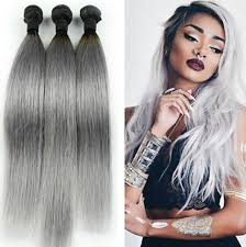 grey hair extensions gray hair 3pcs lot ombre silver grey hair weave