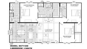 Large Kitchen Floor Plans by 3 Bedroom Floor Plan B 6711 Hawks Homes Manufactured U0026 Modular