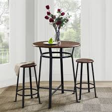 dorel living dorel living montgomery 3 piece dining set dark