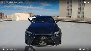 lexus is 350 interior 2017 2017 lexus gs 350 f sport awd youtube
