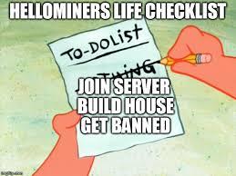 To Do List Meme - patrick star to do list imgflip