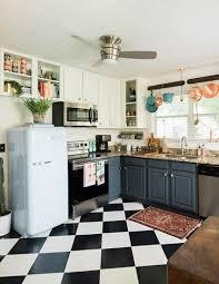 modern retro kitchens check mate our favorite checkered floors design sponge