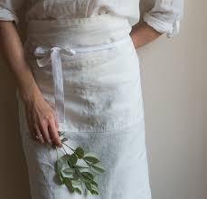 Screen Printed Aprons Apron Rough Linen Classic Apron With Pockets