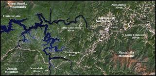 nantahala river map chiaha its probable location found in great smoky mountains