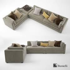 Corner Sectional Sofas 3d Model Busnelli Oh Mar Corner Sectional Sofa Cgtrader