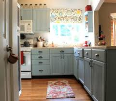 Sherwin Williams Rain Blue Painted Kitchen Cabinets Involving - Blue painted kitchen cabinets