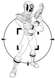 power rangers spd shooting ready coloring kids coloring
