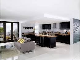 cuisine noir mat et bois stunning cuisine bois noir inox ideas design trends 2017