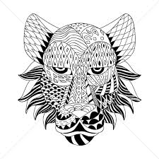 stylized tiger design vector image 1571133 stockunlimited