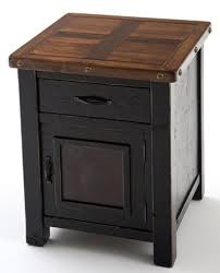 reclaimed end tables u0026 nightstands painted natural wood rustic