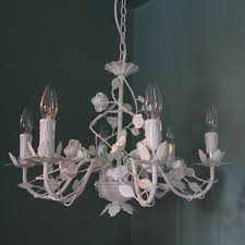 Ivory Chandelier Ivory Cream Six Lamp Rose Chandelier Melody Maison