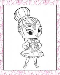 30 magical shimmer shine coloring pages