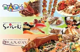 promo cuisines 21 dads saisaki buffet promo ave moa branches