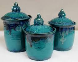 teal kitchen canisters kitchen canisters etsy
