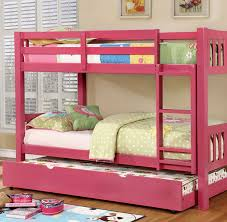 Felix Wood Twin Bunk Bed Available In White Blue Green And Pink - Pink bunk bed