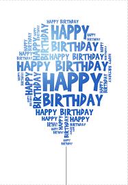 Bday Card Invitation Free Printable Blue Birthday Balloon Happy Birthday Balloons Free Printable