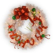 buy lighted wreaths from bed bath beyond
