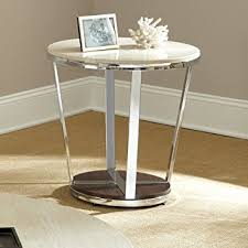 amazon com round end table kitchen u0026 dining