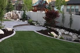 landscape ideas landscape drainage design with white wooden fence
