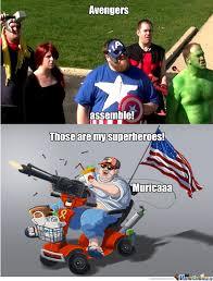 Merica Meme - merica meme fat guy in wheelchair image memes at relatably com