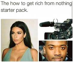 Rich Meme - how to get rich from nothing starter pack imglulz funny