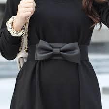 bow belts 59th elasticized bow belt black one size free