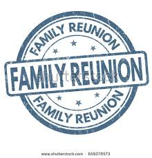family reunion sign st on white stock vector 659278573