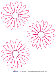 small printable pink flower decoration