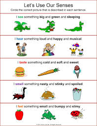 rockabye butterfly the five senses free worksheets for