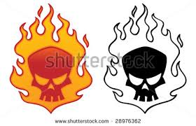 flaming skull graphic free vector stock graphics
