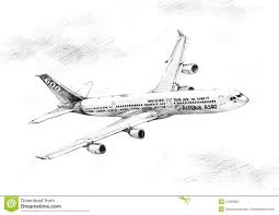 drawn airplane airline pencil and in color drawn airplane airline