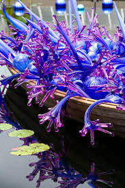 Botanic Garden Bronx by Dale Chihuly Blue And Purple Boat New York Botanical Garden The