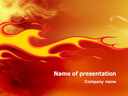 fire flame powerpoint template backgrounds 03234