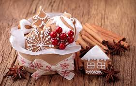 wallpaper anis sweets new year holidays cakes cookies holly