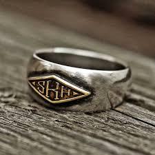 Monogram Initial Ring Rs 145 Monogram Ring Word Ring Initial Ring Name Ring Puerlla