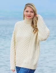 white wool sweater s merino wool turtleneck sweater aran sweater market