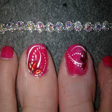 toe nail designs flowers